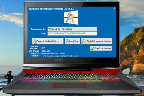 Windows 10 Activator Ultimate 2019 1.1 [Permanent Activator] Latest