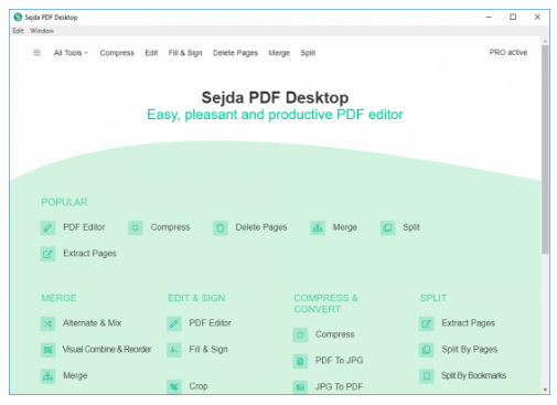 Sejda PDF Desktop Pro 6.0.6 Crack + License Key Lifetime 2020 [Latest]
